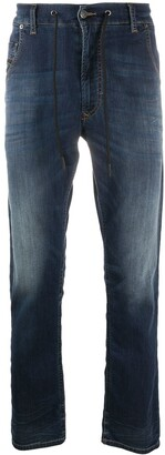 Diesel Drawstring-Waist Straight Leg Jeans