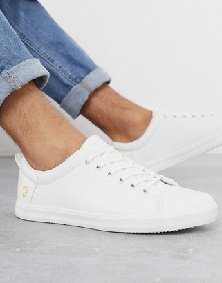 Farah lace up sneakers in white