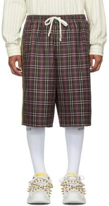 Gucci Purple and Black Fancy Tartan Shorts