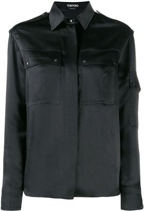 Tom Ford Contrast Long Sleeved Shirt