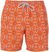 Capricode geometric leaf print shorts