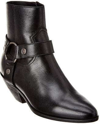 Saint Laurent West Harness 45 Leather Bootie