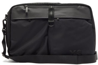 Y-3 Front-pocket Technical Cross-body Bag - Mens - Black