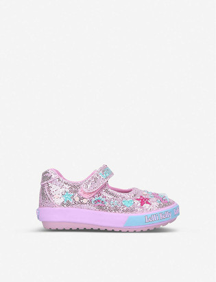 Lelli Kelly Kids Tiara Baby glittered woven dolly shoes 1-4 years
