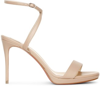 Christian Louboutin Loubi Queen 100 nude sandals