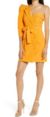 Lavish Alice One Puff Shoulder Blazer Minidress