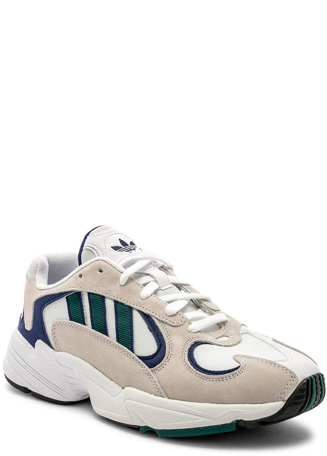 adidas Yung-1 in White & Noble Green & Dark Blue | FWRD