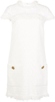Oscar de la Renta Tweed Mini Shift Dress
