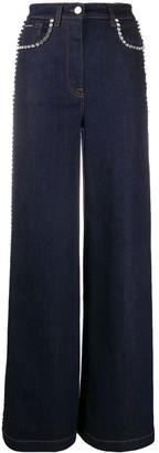 Dolce & Gabbana embellished wide jeans