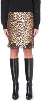 Givenchy Leopard-print silk pencil skirt