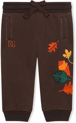 Dolce & Gabbana Kids Leaf-Print Drawstring Track Pants