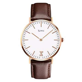 ZEMGE 36mm case Women Watches Ultra Thin Quartz Analogue Waterproof Wrist Watch Unisex Business Casual Simple Classic Design Dress Rose Gold Tone Wristwatch with Stainless Steel Case DW Style ZC0601W
