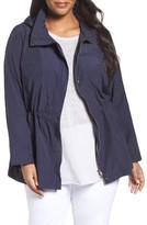 Eileen Fisher Plus Size Women's Lightweight Organic Cotton & Nylon Stand Collar Jacket