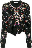 Givenchy night pansies print sweatshirt