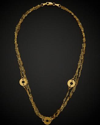 Italian Gold 14K Triple-Strand Spiral Heart Contempo Necklace
