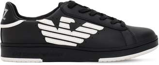 Emporio Armani Ea7 Millennium Leather Sneakers