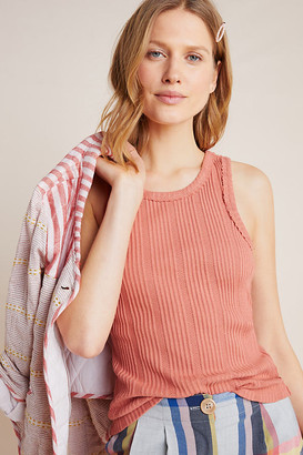 Anthropologie Robin Ribbed Tank By in Beige Size XS