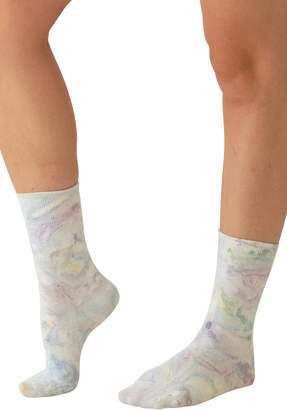 KkCo Marbled Dye Cotton Crew Socks