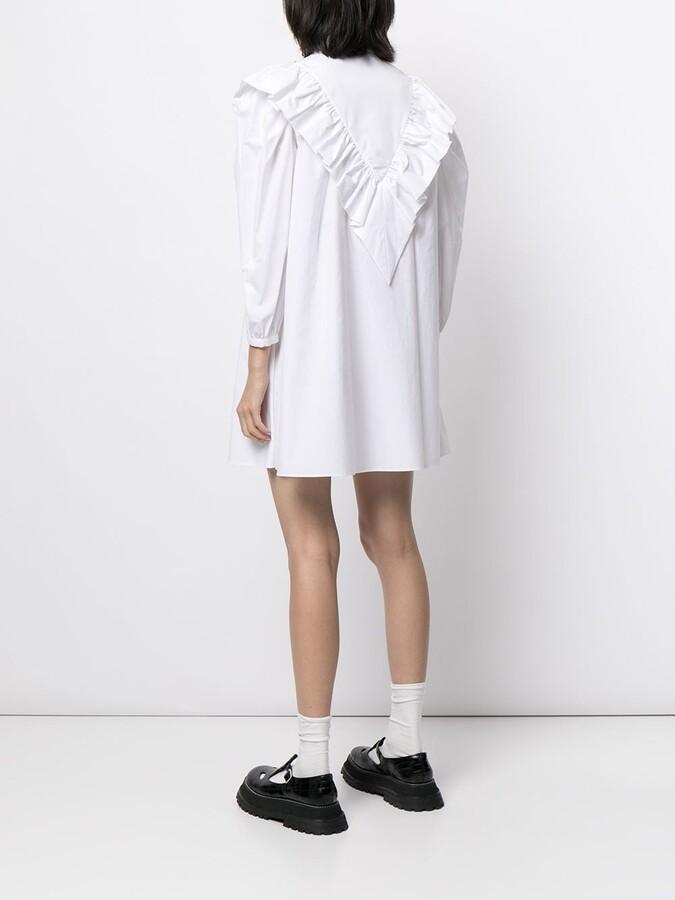 Thumbnail for your product : SHUSHU/TONG Crystal-Embellished Ruffled Shirtdress