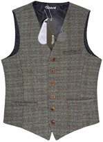 Zicac Men's Unique Advanced Custom Vest Skinny Wedding Dress Waistcoat (L,)