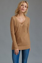 Dynamite Long Sleeve Sweater with Lace-up Front