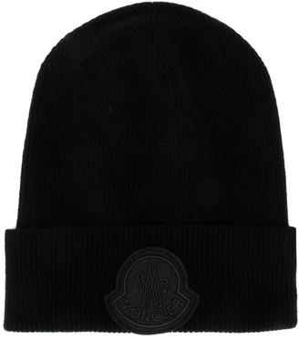 Moncler Gamme Bleu Logo Patch Knit Hat