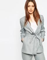 Asos Linen Mix Blazer with Kimono Sleeve