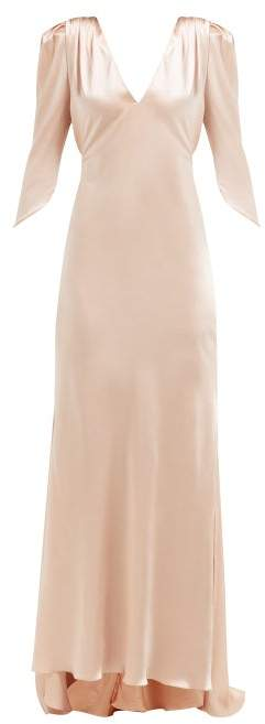 Maria Lucia Hohan Derya Silk Charmeuse Maxi Dress - Womens - Light Pink