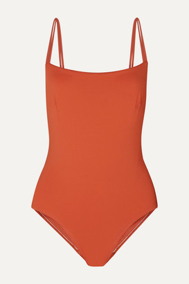BONDI BORN + Net Sustain Sadie Tie-detailed Swimsuit - Orange