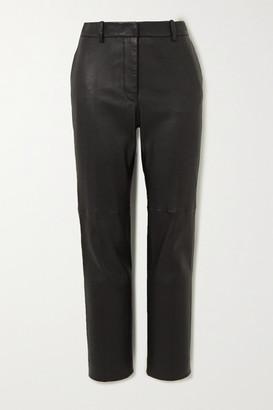 Joseph Coleman Leather Slim-fit Pants