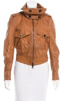 Burberry Leather Mock Neck Jacket w/ Tags