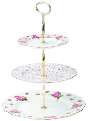 Royal Albert New Country Roses White Vintage Cake Stand