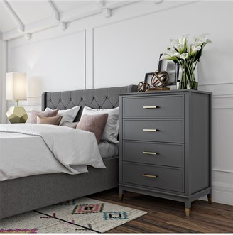 CosmoLiving by Cosmopolitan Westerleigh 4 Drawer Chest - Graphite Grey