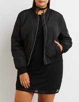Charlotte Russe Plus Size Padded Bomber Jacket