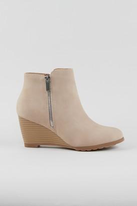 Wallis Neutral Wedge Heel Boot