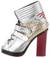 Proenza Schouler Metallic Peep-Toe Boots