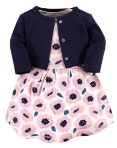 Touched by Nature Organic Cotton Dress and Cardigan Set, Blossoms, 12-18 Months