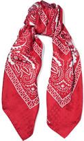 Balenciaga Printed Silk-jacquard Scarf - Red