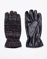 Le Château Tweed & Lambskin Leather Glove