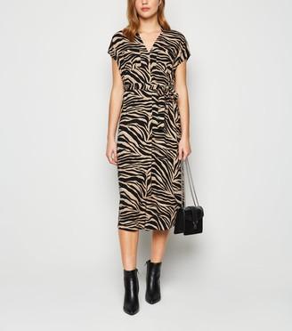 New Look Tiger Print Tunic Midi Dress