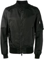 Valentino Rockstud bomber jacket - men - Polyamide/Polyester/Cotton/Linen/Flax - 46