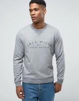 Jack Wills Sweatshirt With Wills Print In Granite