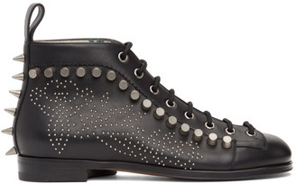 Gucci Black Brogue Detail Boots