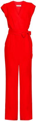 Diane von Furstenberg Wrap-effect Crepe Jumpsuit