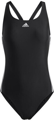 adidas Womens Fit 3-Stripes Swimsuit