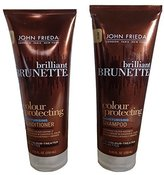 John Frieda Brilliant BRUNETTE Colour Protecting Combination Pack Shampoo & Conditioner 8.45oz
