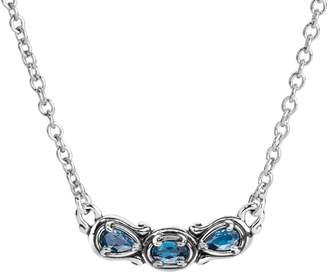 Carolyn Pollack Simply Fabulous 3-Gemstone Necklace