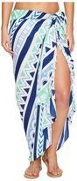 Plush Soleil Ultra Soft Seagate Striped Pareo Scarves