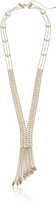 "Danielle Nicole Ivy Y-Shaped Necklace 34"" + 4"" Extender"