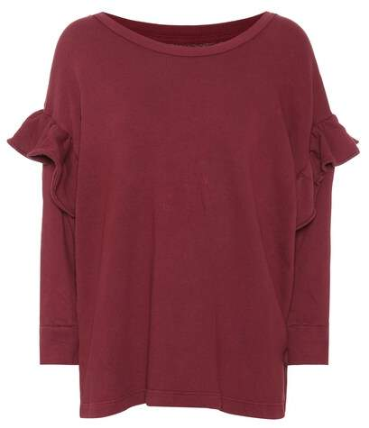 Current/Elliott The Ruffle cotton sweatshirt